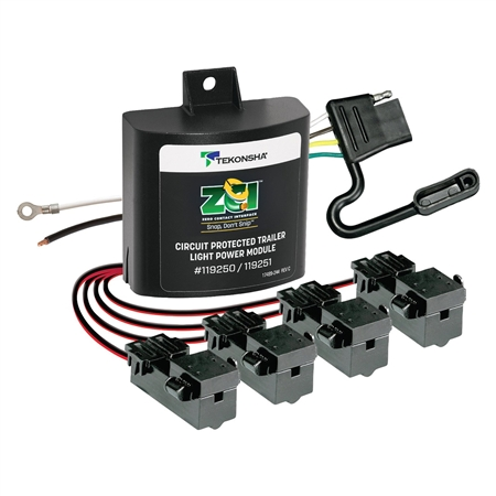 Tekonsha ZCI Zero Contact Universal Module 4 Pole Flat Trailer Connector Kit
