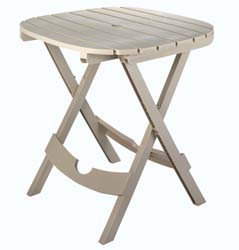 Adams 8550-23-3731 Quik Fold Cafe Table - Desert Clay