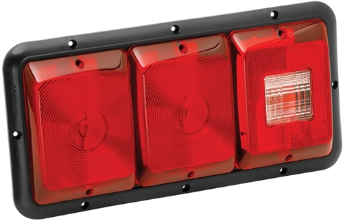 Bargman 34-84-009 Horizontal Recessed Triple Taillight - 84/85 Series - Red Lens