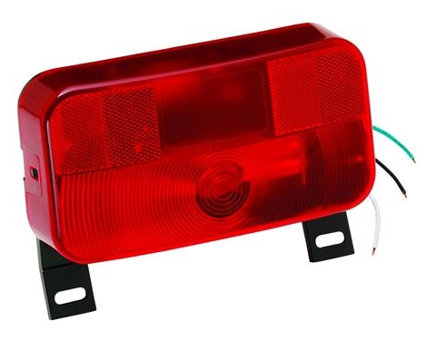 Bargman 30-92-108 Red 92-Series Taillight With License Bracket