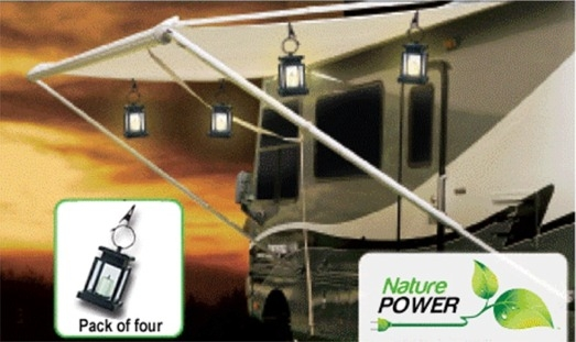 Solar Powered Awning Lantern Lights
