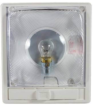 Arcon 11824 Incandescent Economy Light With Switch - Clear Lens