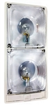 Arcon 11825 Double Incandescent Economy Light With Switch - Clear Lens