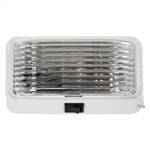 Arcon 18104 Universal Porch/Utility Light - White - Clear Lens - With Switch