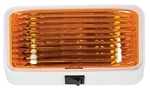 Arcon 18111 Universal Porch/Utility Light - White - Amber Lens - With Switch