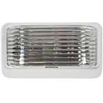 Arcon 20672 Universal Porch/Utility LED Light, White With Clear Lens - Without Switch