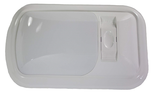 Arcon 20713 LED Euro-Style Light With Switch - White Lens - Soft White