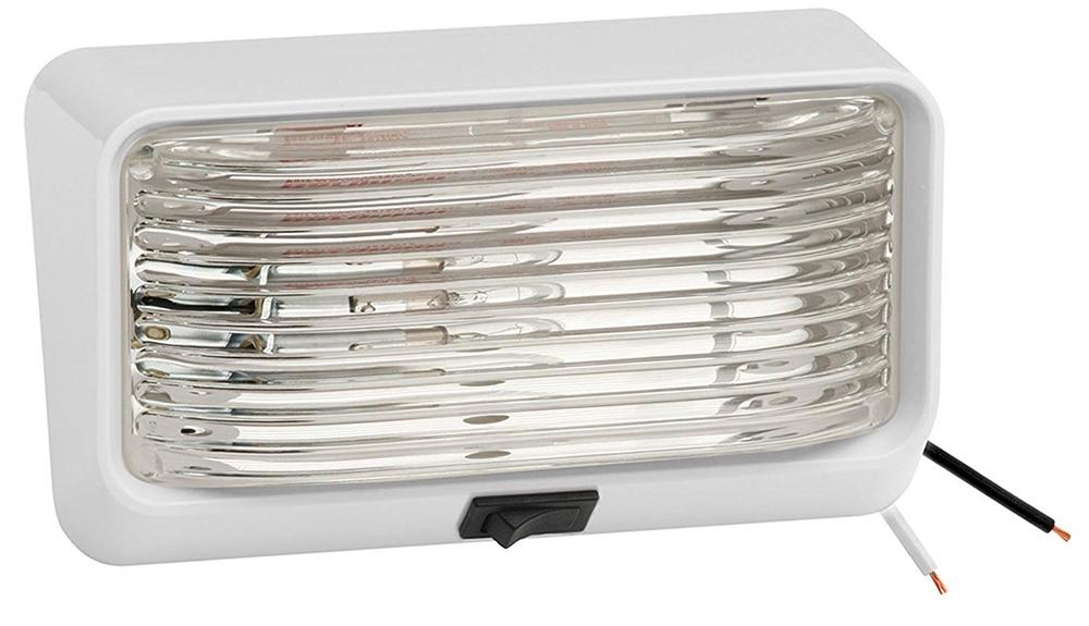 Quantity 1 RV Trailer BARGMAN Porch Light Lens Amber 34-78-022 Light Lens