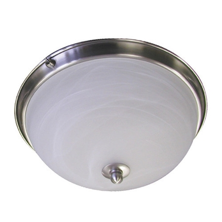 Brushed Nickel Low Profile Dome RV Dinette Light