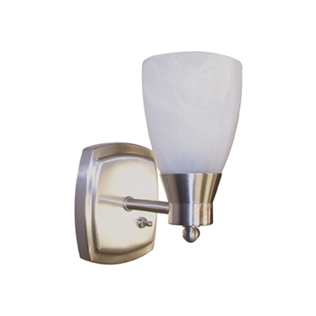 Brushed Nickel Small Pin Up RV Light