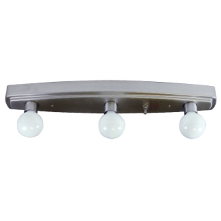 Brushed Nickel 3 Bulb Vanity Light