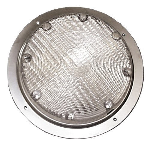 Arcon 16193 Round RV Porch Light With Clear Lens