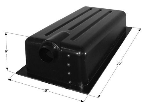 Icon 13 Gallon RV Holding Tank - Center End Drain HT147ED