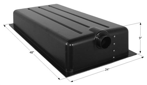 Icon 25 Gallon RV Holding Tank - Center End Drain HT198ED