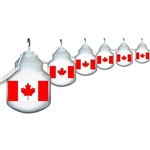 Polymer Products 1604-CANADA 25' Globe String Lights- Canadian Flag