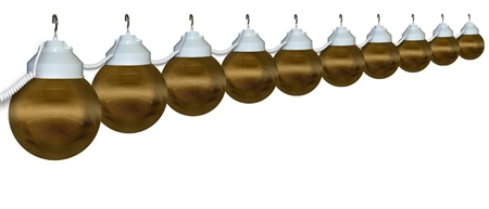 Polymer Products 16-32-00515 Globe String Lights- Bronze