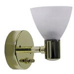 ITC Directional Glass Shaded Brass RV Reading Light