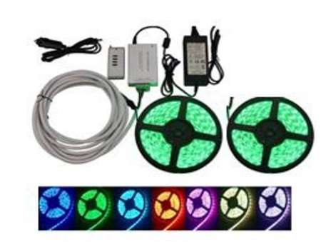 Ming's Mark 8080112 Set Of 2 Multi-Color LED Light Strip- 16.4 Feet
