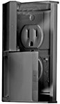 RV Designer S907 AC Weatherproof Dual Outlet - Black