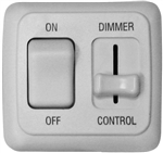 Diamond Group LDSDIM01 LED Pulse Wave Dimmer On/Off Switch - White
