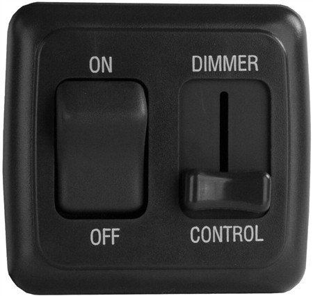 Valterra DGLD25VP LED Pulse Wave Dimmer On/Off Switch - Black