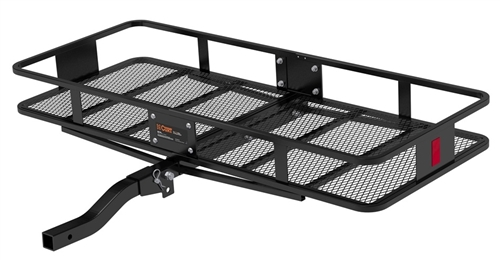 Curt 18153 2 Piece Large Basket Cargo Carrier With Folding Shank