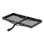 Curt 18110 Tray-Style Cargo Carrier with Fixed Shank