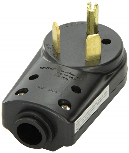 Voltec 16-00580 Replacement Plug Connector - Male - 30 Amp