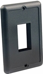 JR Products 14045 Single Switch Face Plate - Black