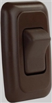 JR Products 12135 Multi-Purpose Single Rocker Switch - Brown