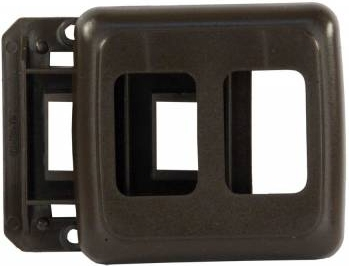 JR Products 12205 RV Double Switch Base & Face Plate - Brown