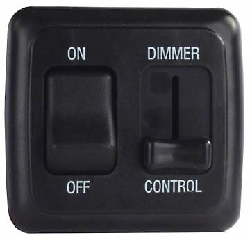 JR Products 12275 On/Off Light Switch With Dimmer - Black