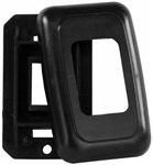 JR Products 12305 RV Single Switch Base & Face Plate - Black
