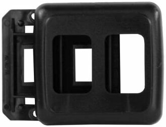 JR Products 12315 RV Double Switch Base & Face Plate - Black