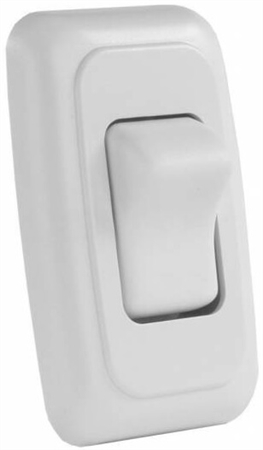 JR Products 12005 Multi-Purpose Single Rocker Switch - White