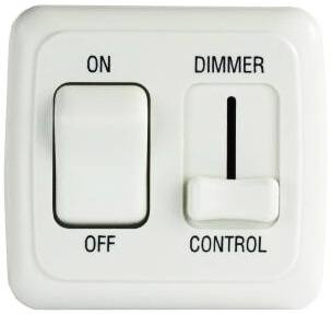 JR Products 12065 On/Off Light Switch With Dimmer