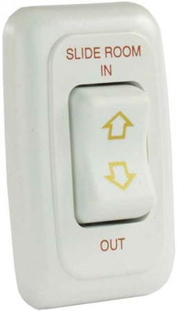 JR Products 12075 RV Slide Out Switch Momentary On/Off - White