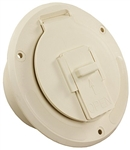 "JR Products S-23-14-A Round Electric Cable Hatch - 2-27/32"" Cutout - Colonial White"
