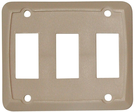 Valterra DG358VP Triple Switch Wall Plate - Ivory