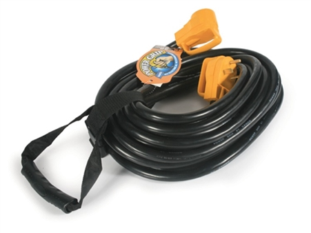 Camco 55197 PowerGrip 50' 30 Amp Extension Cord With Carry Strap