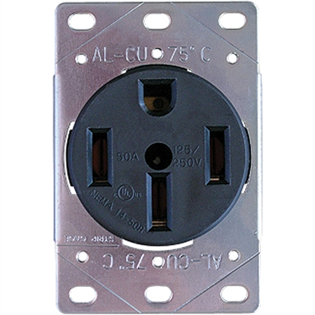 Progressive Industries 50Amp Dead Front RV Receptacle