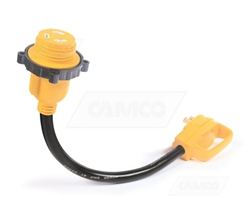 Camco 55512 Power Grip Locking Electrical Adapter - 30 Amp - 18""