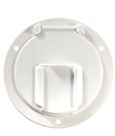RV Designer B130 Low Profile Cable Hatch - Polar White