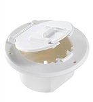 RV Designer B120 Basic Round Cable Hatch - Polar White