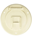 RV Designer B122 Basic Round Cable Hatch - Colonial White