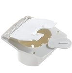 RV Designer B140 Basic Flat Sided Cable Hatch - Polar White