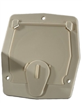 RV Designer B142 Basic Flat Sided Cable Hatch - Colonial White