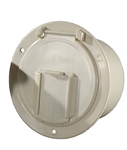 RV Designer B132 Low Profile Cable Hatch - Colonial White