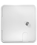 "RV Designer B152 RV Locking Electrical Hatch - 8.5"" x 8"""