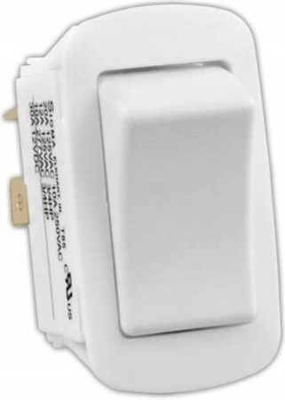 JR Products 14015 Multi-Purpose Single Rocker Switch - White